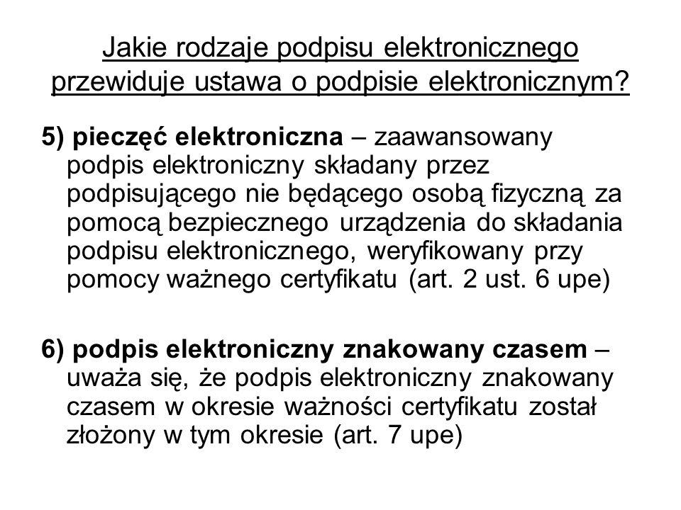 Polska ustawa a dyrektywa o podpisach elektronicznych Różnice: A.