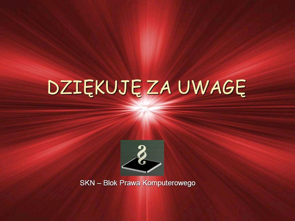 DZIĘKUJĘ ZA UWAGĘ SKN – Blok Prawa Komputerowego