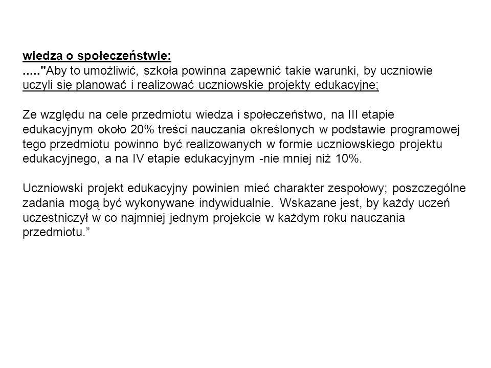 Publiczna prezentacja Publiczna prezentacja jest jednym z ważniejszych etapów projektu gimnazjalnego.