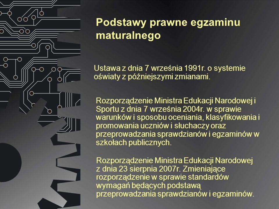 Rozporządzenie Ministra Edukacji Narodowej z dnia 23 sierpnia 2007r. Zmieniające rozporządzenie w sprawie standardów wymagań będących podstawą przepro