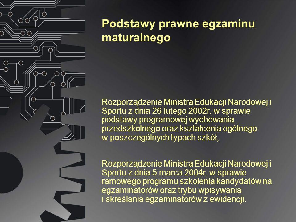 Rozporządzenie Ministra Edukacji Narodowej i Sportu z dnia 26 lutego 2002r.