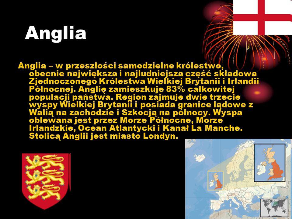 Anglia Anglia – w przeszłości samodzielne królestwo, obecnie największa i najludniejsza część składowa Zjednoczonego Królestwa Wielkiej Brytanii i Irl