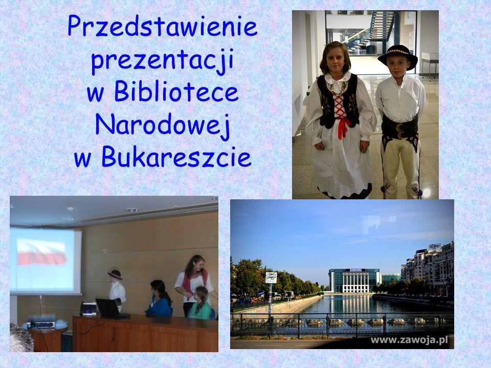 Przedstawienie prezentacji w Bibliotece Narodowej w Bukareszcie