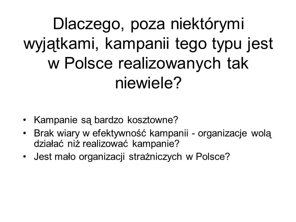Dlaczego, poza niektórymi wyjątkami, kampanii tego typu jest w Polsce realizowanych tak niewiele? Kampanie są bardzo kosztowne? Brak wiary w efektywno