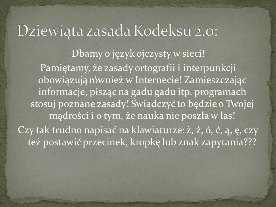 Dbamy o język ojczysty w sieci.