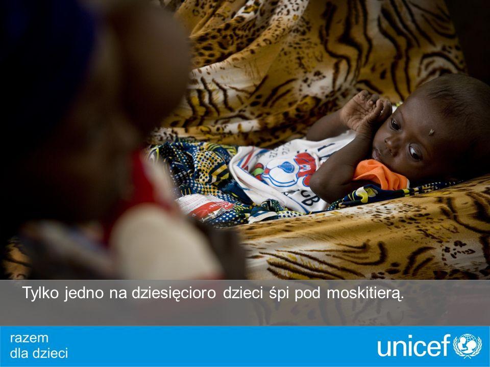 Tylko jedno na dziesięcioro dzieci śpi pod moskitierą.