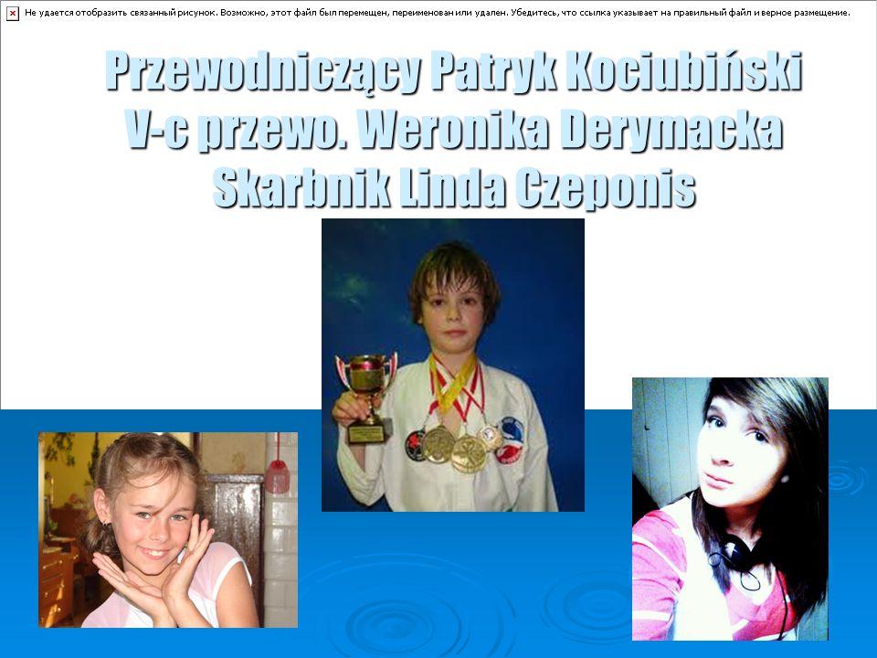 Przewodniczący Patryk Kociubiński V-c przewo. Weronika Derymacka Skarbnik Linda Czeponis