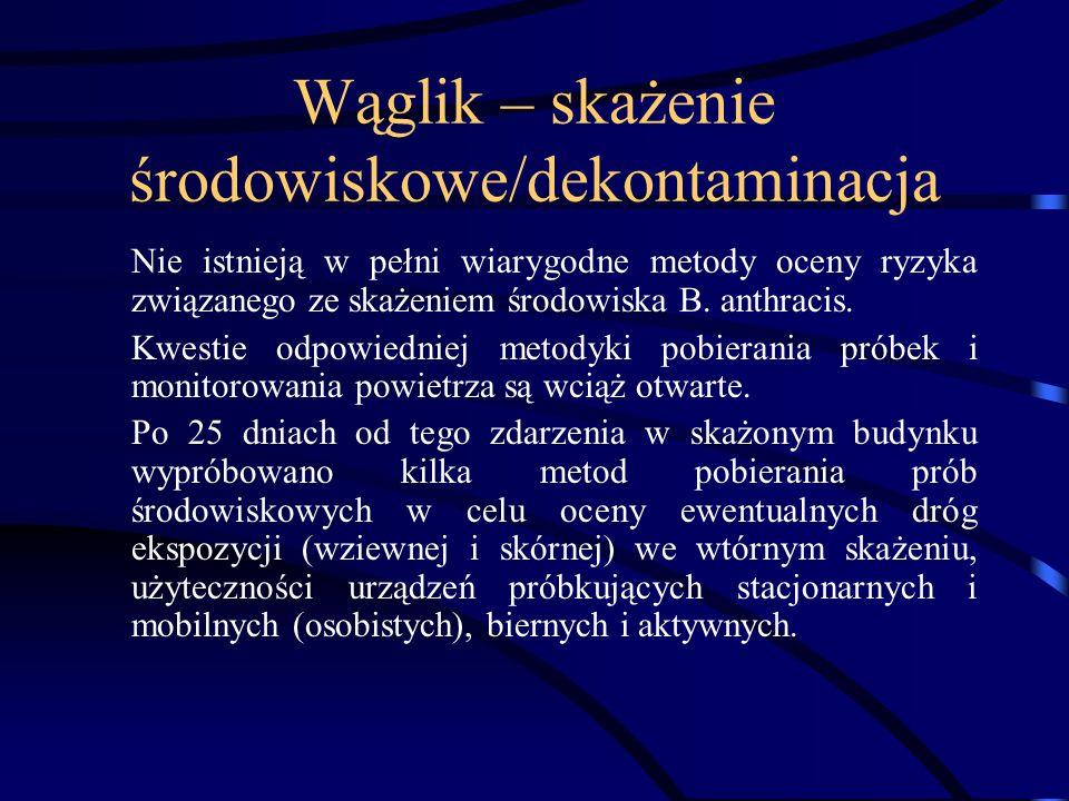 Wąglik postępowanie Penicylina G, w dawce 2mln.j.m.
