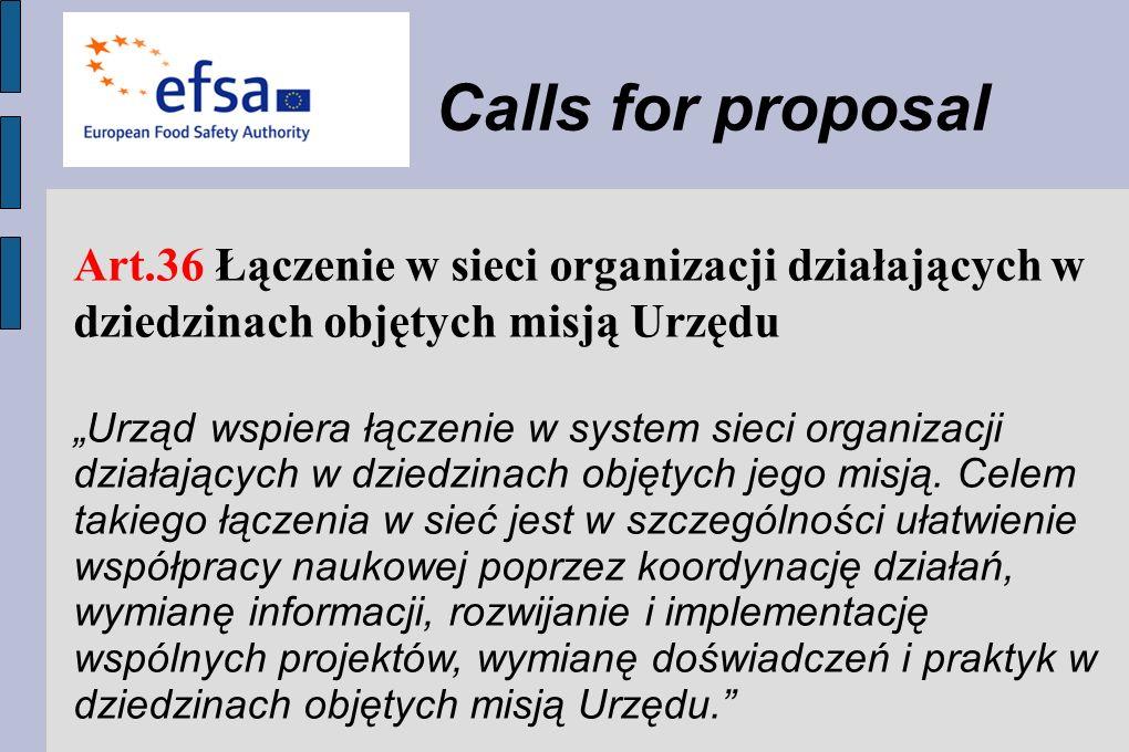 Art.36 Łączenie w sieci organizacji działających w dziedzinach objętych misją Urzędu Urząd wspiera łączenie w system sieci organizacji działających w dziedzinach objętych jego misją.