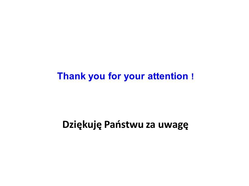 Thank you for your attention ! Dziękuję Państwu za uwagę