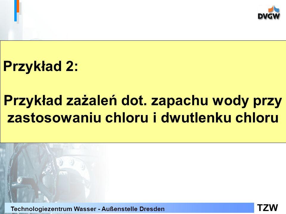 TZW Technologiezentrum Wasser - Außenstelle Dresden Przykład 2: Przykład zażaleń dot.