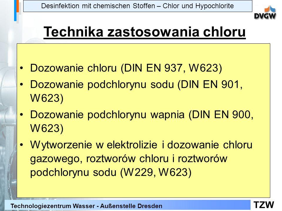 TZW Technologiezentrum Wasser - Außenstelle Dresden System dezynfekcji w austriackim zakładzie wodociągowym O3O3 WWHB ClO 2