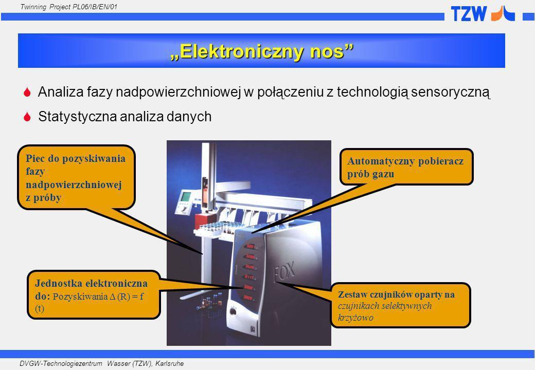 DVGW-Technologiezentrum Wasser (TZW), Karlsruhe Twinning Project PL06/IB/EN/01 Analiza fazy nadpowierzchniowej w połączeniu z technologią sensoryczną