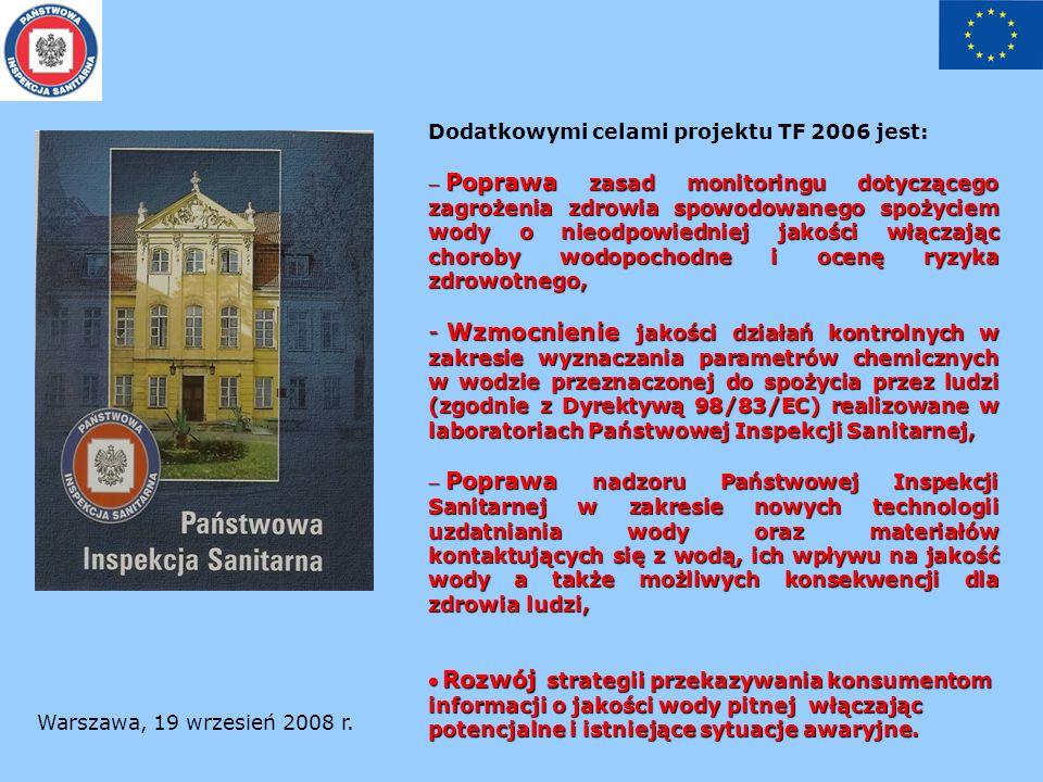 Warszawa, 19 wrzesień 2008 r.Bieżące informacje: w grudniu 2007 r.