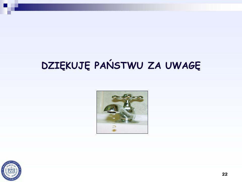 22 DZIĘKUJĘ PAŃSTWU ZA UWAGĘ