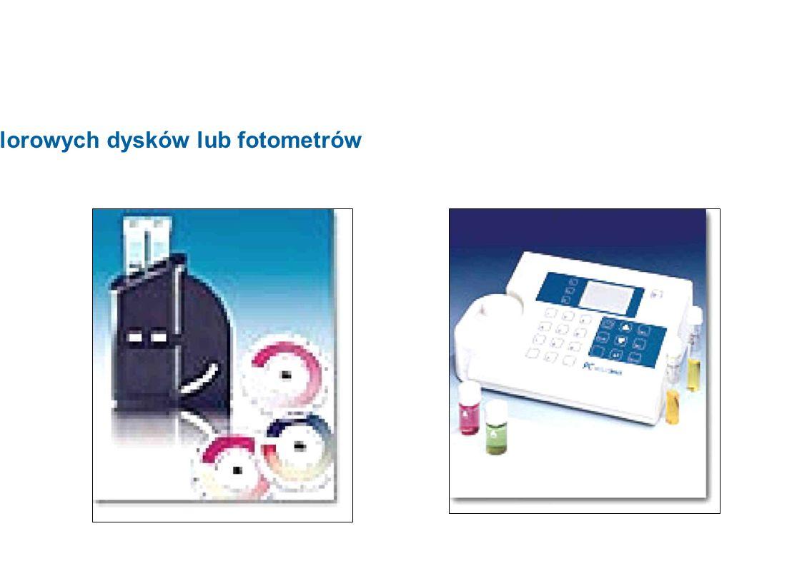 Zastosowanie kolorowych dysków lub fotometrów 9