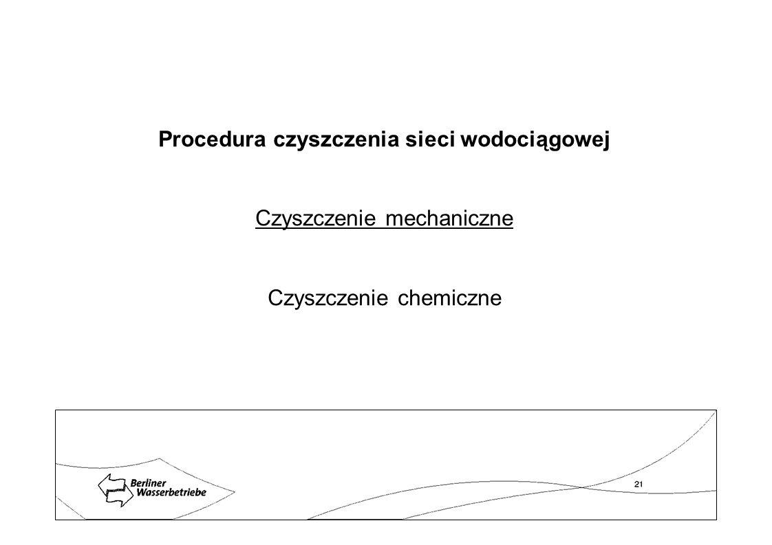 Procedura czyszczenia sieci wodociągowej Czyszczenie mechaniczne Czyszczenie chemiczne