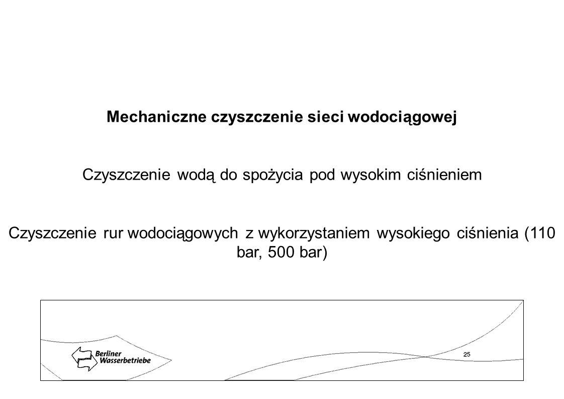 Mechaniczne czyszczenie sieci wodociągowej Czyszczenie wodą do spożycia pod wysokim ciśnieniem Czyszczenie rur wodociągowych z wykorzystaniem wysokieg