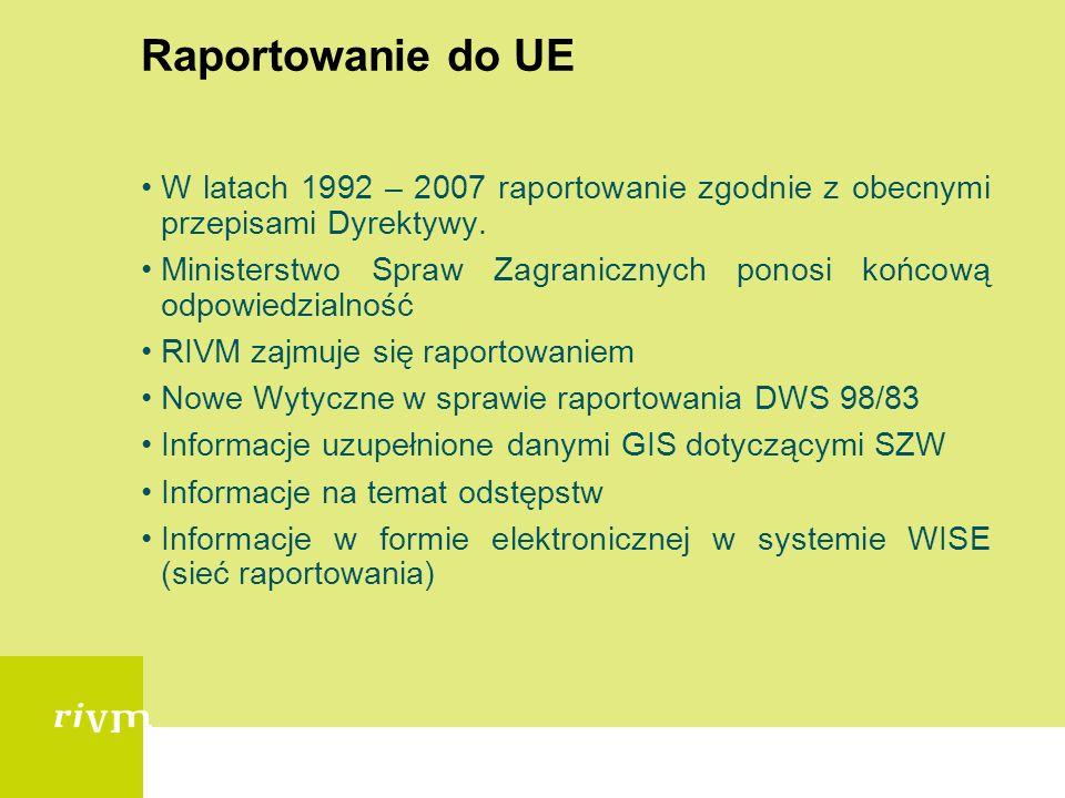 Inne sposoby wykorzystania bazy danych Raportowanie w systemie WISE -Zapytania służące wygenerowaniu raportu co (trzy) lata Inne analizy -Raport n/t radioaktywności dla Euratom -Analizy trendów -Jakość wody dla zwierząt laboratoryjnych RIVM -Dyrektywa ramowa ws.