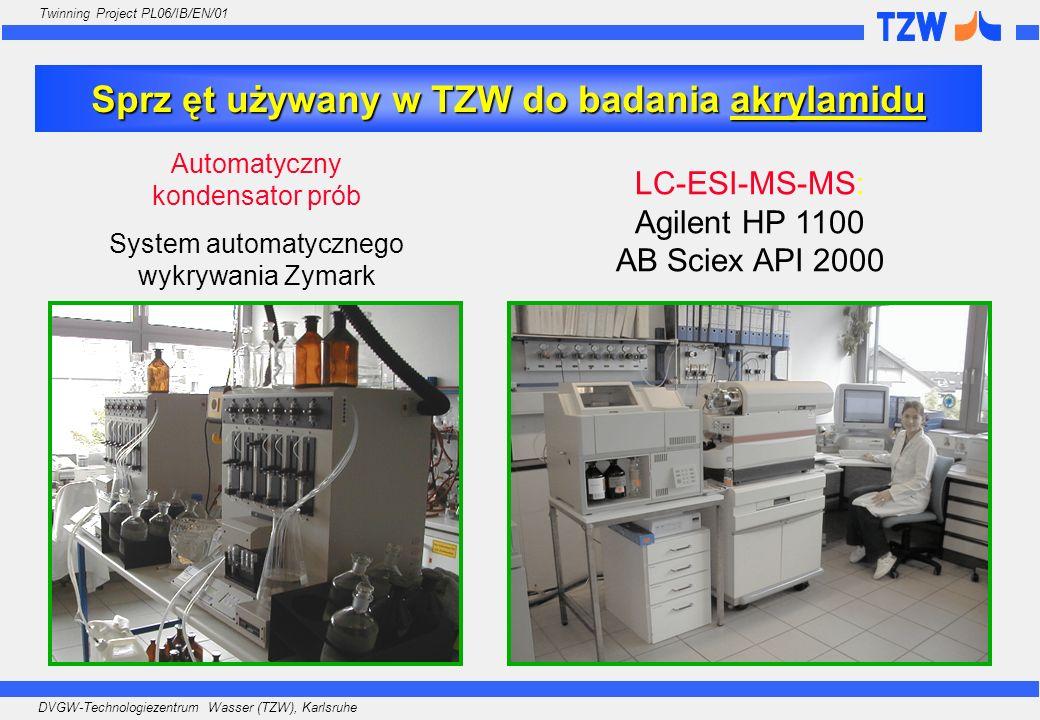 DVGW-Technologiezentrum Wasser (TZW), Karlsruhe Twinning Project PL06/IB/EN/01 Sprz ęt używany w TZW do badania akrylamidu Automatyczny kondensator pr