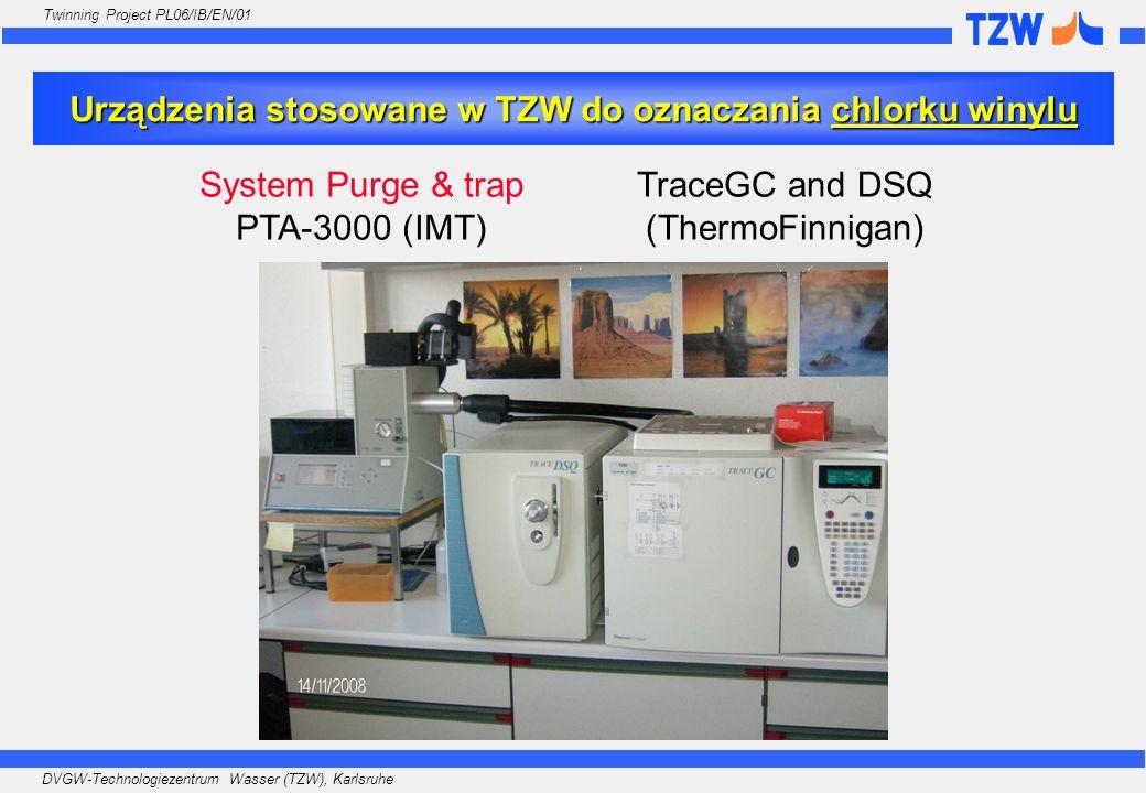 DVGW-Technologiezentrum Wasser (TZW), Karlsruhe Twinning Project PL06/IB/EN/01 Urządzenia stosowane w TZW do oznaczania chlorku winylu System Purge &
