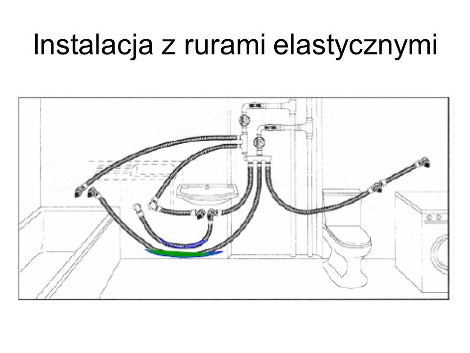 Instalacja z rurami elastycznymi