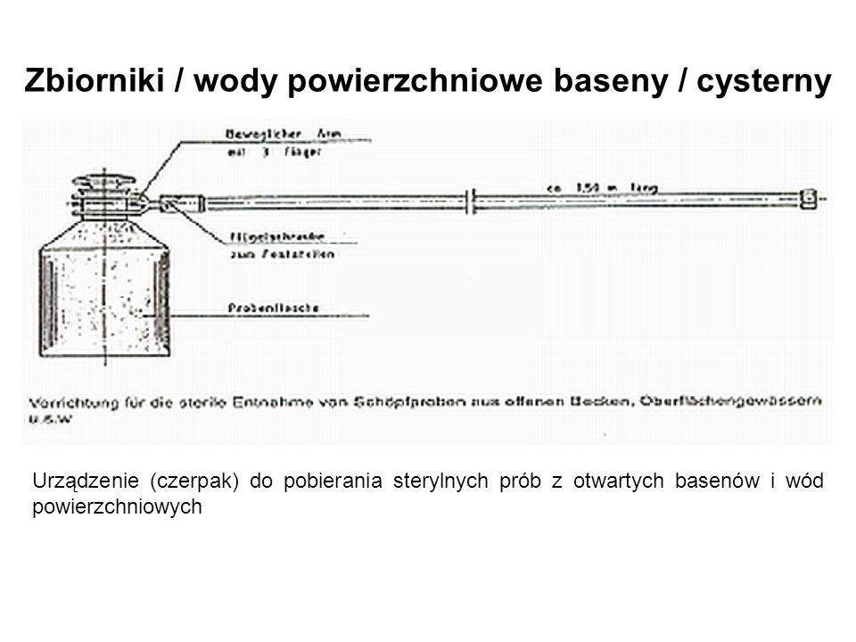 Zbiorniki / wody powierzchniowe baseny / cysterny Urządzenie (czerpak) do pobierania sterylnych prób z otwartych basenów i wód powierzchniowych