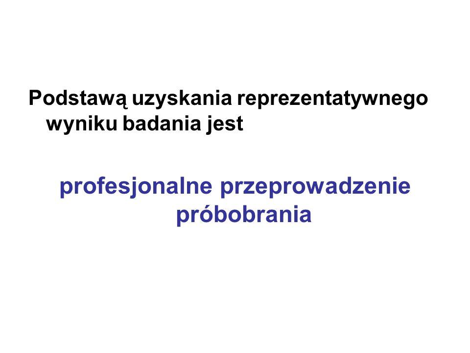 Podstawą uzyskania reprezentatywnego wyniku badania jest profesjonalne przeprowadzenie próbobrania