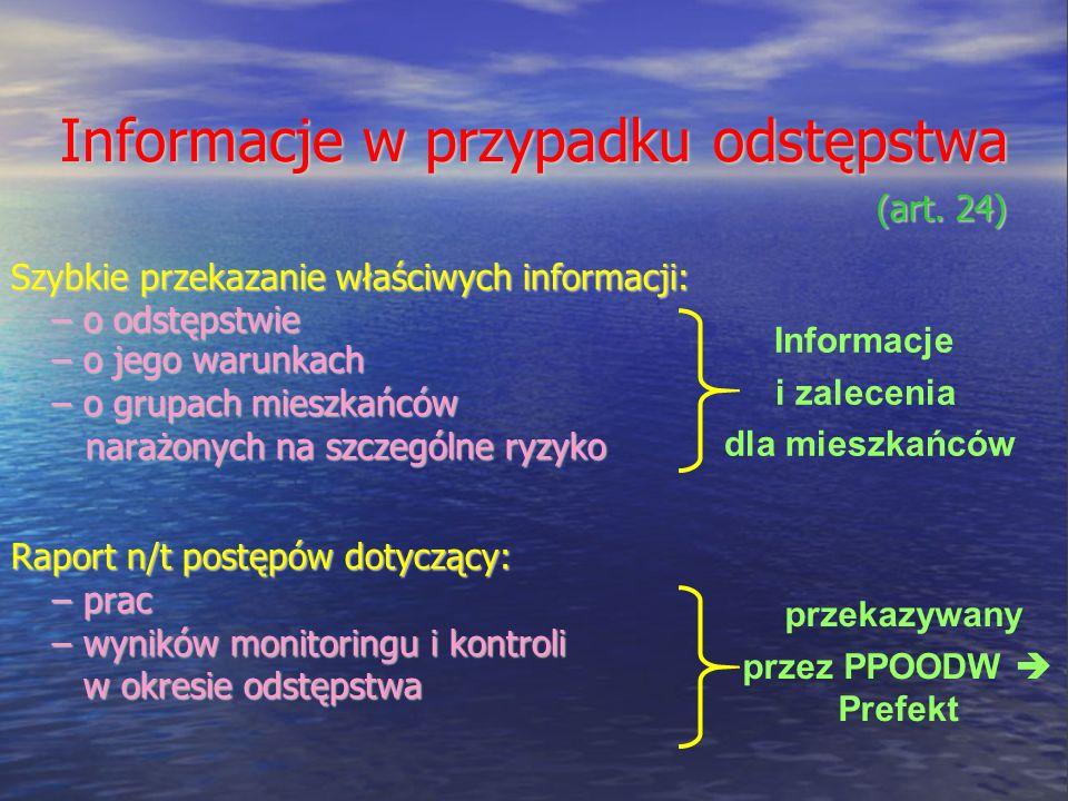 Informacje w przypadku odstępstwa (art.24) (art.
