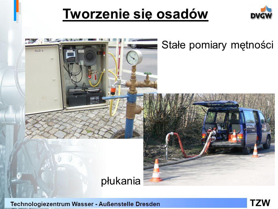 TZW Technologiezentrum Wasser - Außenstelle Dresden Tworzenie się osadów Stałe pomiary mętności płukania