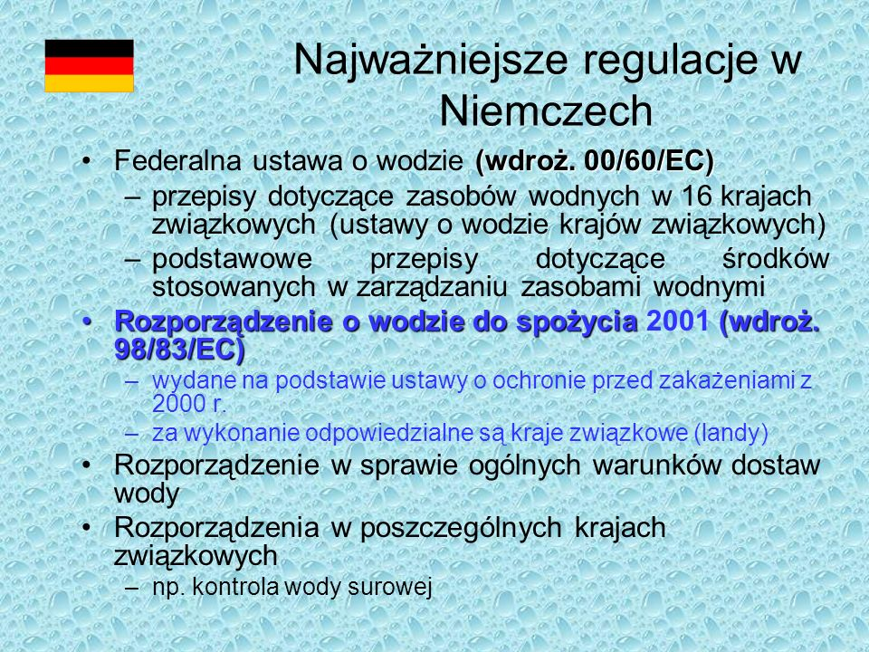 Za wykonanie odpowie- dzialne są kraje związkowe Bez wpływu ze strony minister- stwa!