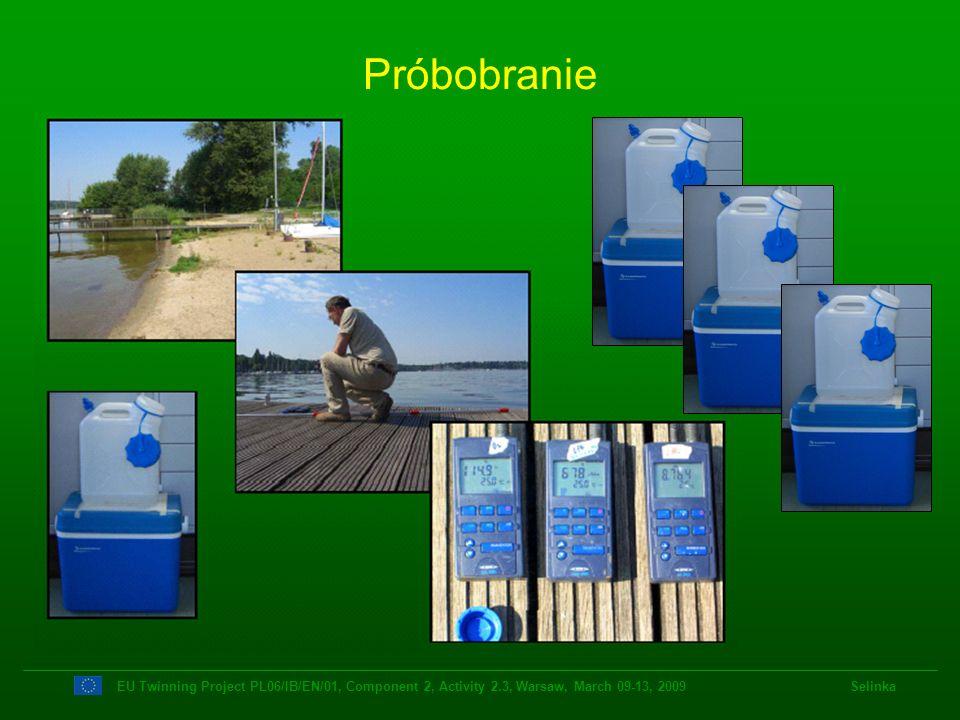 Próbobranie EU Twinning Project PL06/IB/EN/01, Component 2, Activity 2.3, Warsaw, March 09-13, 2009 Selinka