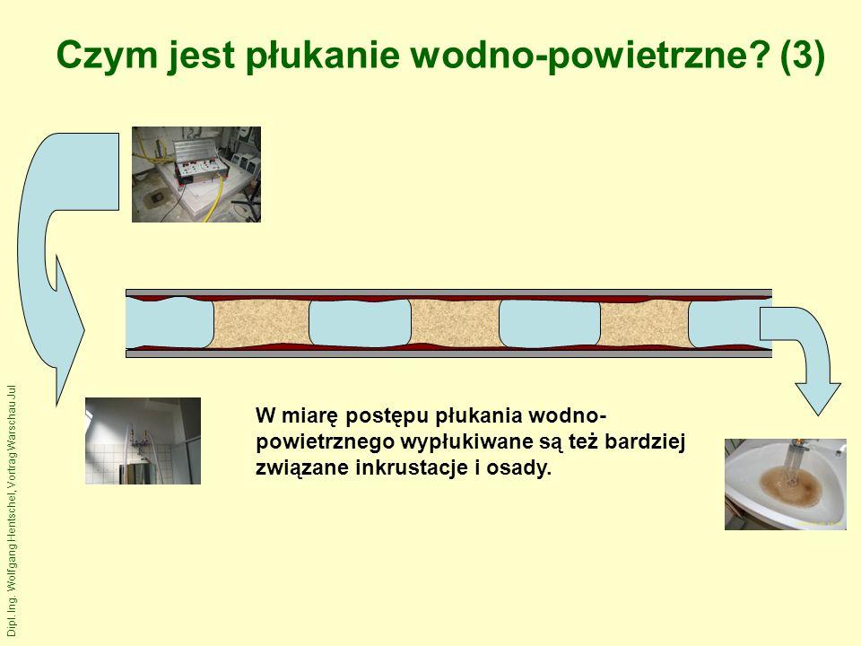 Dipl. Ing. Wolfgang Hentschel, Vortrag Warschau Juli 2009 Czym jest płukanie wodno-powietrzne.