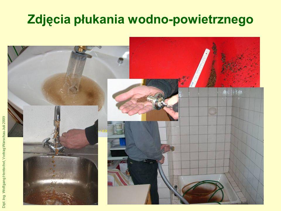 Dipl. Ing. Wolfgang Hentschel, Vortrag Warschau Juli 2009 Zdjęcia płukania wodno-powietrznego