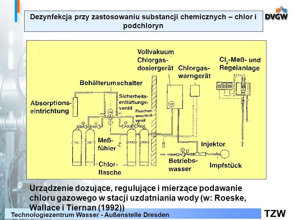 TZW Technologiezentrum Wasser - Außenstelle Dresden Urządzenie dozujące, regulujące i mierzące podawanie chloru gazowego w stacji uzdatniania wody (w: