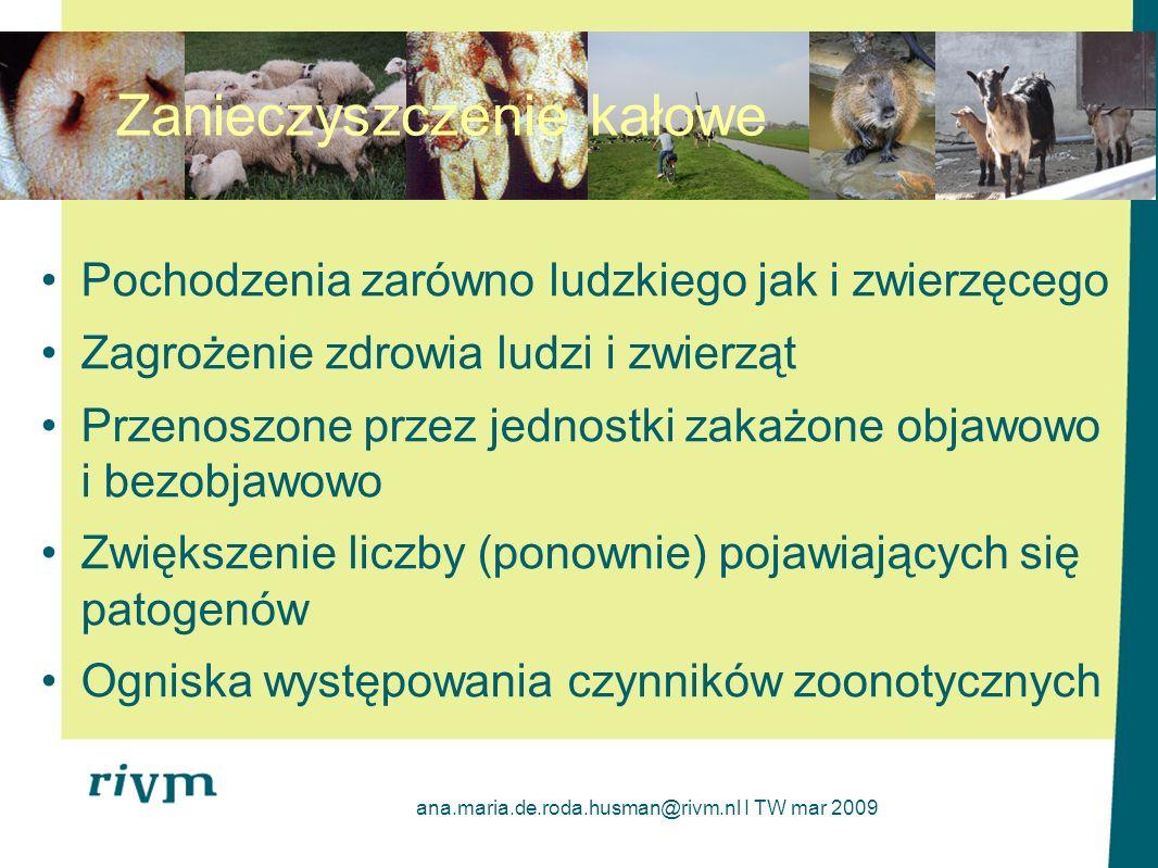ana.maria.de.roda.husman@rivm.nl I TW mar 2009 Dyskusja Przenoszenie chorób zakaźnych przez wodę -Jak poważny problem.