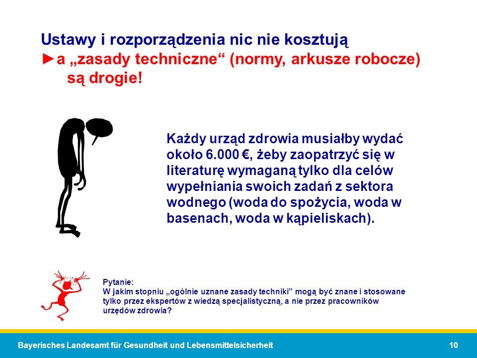 Bayerisches Landesamt für Gesundheit und Lebensmittelsicherheit 10 Każdy urząd zdrowia musiałby wydać około 6.000, żeby zaopatrzyć się w literaturę wy