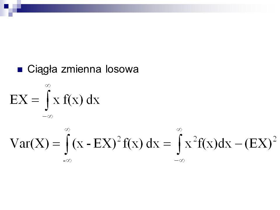 Meta-eksperyment Wobraźmy sobie, że powtarzamy eksperyment wiele razy Interesuje nas rozkład p-stwa wszystkich możliwych do uzyskania wartości, s lub Taki rozkład będziemy nazywali rozkładem próbkowym estymatora.