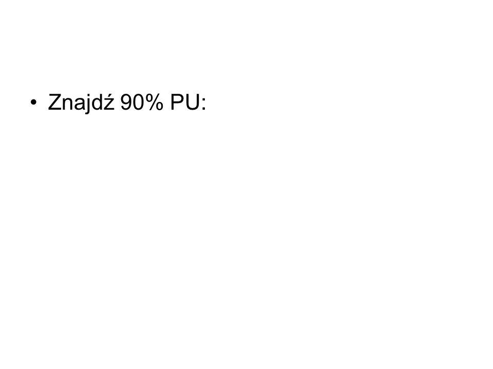 Znajdź 90% PU: