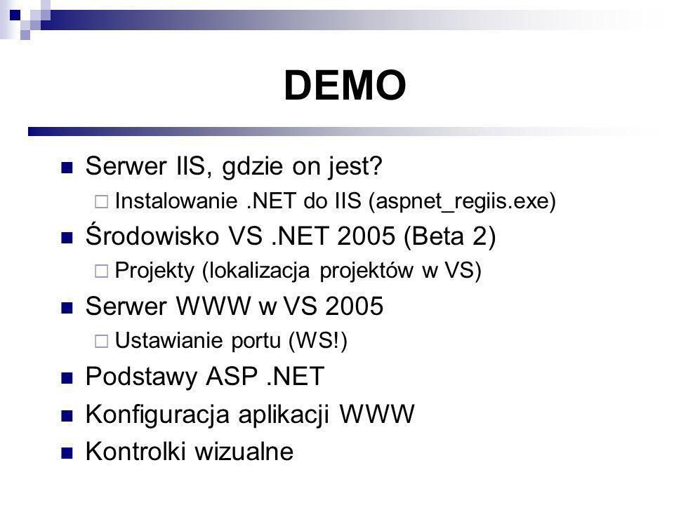 DEMO Serwer IIS, gdzie on jest.