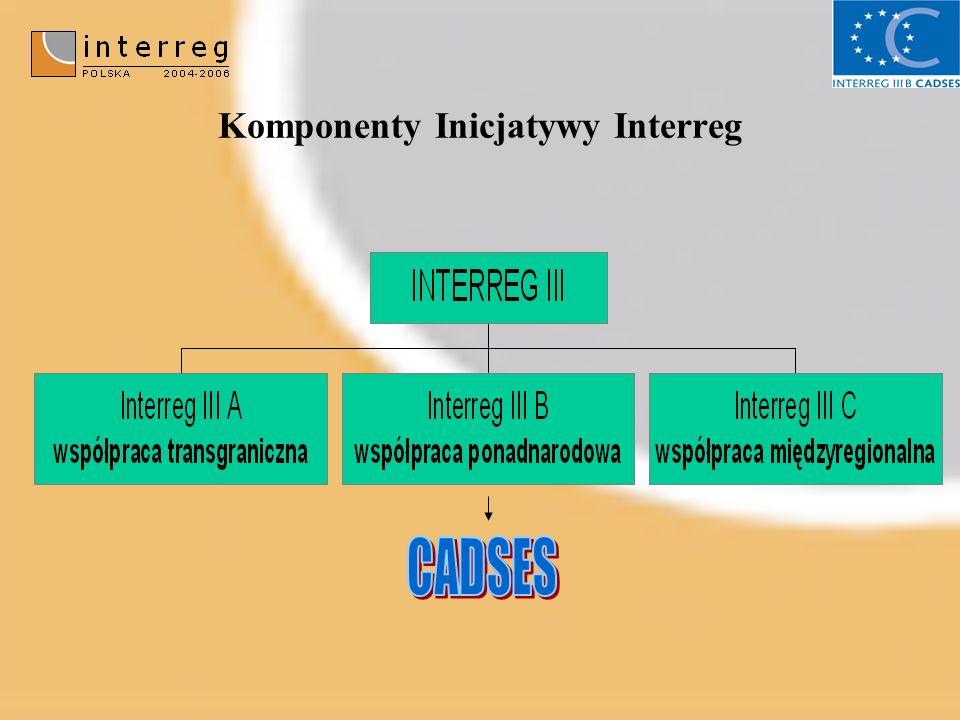 Komponenty Inicjatywy Interreg