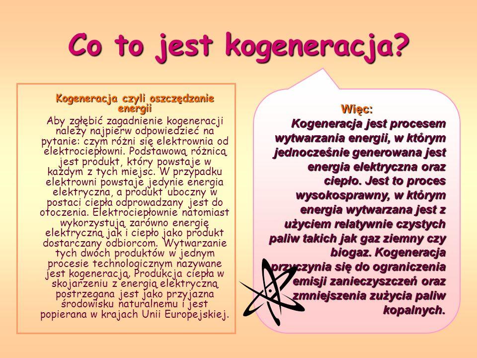Co to jest kogeneracja? Kogeneracja czyli oszczędzanie energii Aby zgłębić zagadnienie kogeneracji należy najpierw odpowiedzieć na pytanie: czym różni