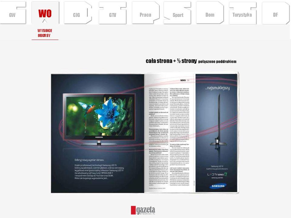 cała strona + ½ strony połączone poddrukiem WO WYSOKIE OBCASY CJG Sport TurystykaPraca DFDom GTVGW