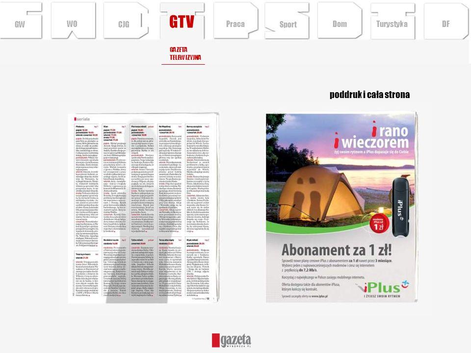 GTV poddruk i cała strona GWCJG Sport TurystykaPraca DFDom WO GAZETA TELEWIZYJNA