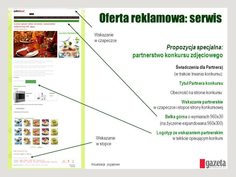 Oferta reklamowa: serwis Propozycja specjalna: partnerstwo konkursu zdjęciowego Świadczenia dla Partnera) (w trakcie trwania konkursu): Tytuł Partnera