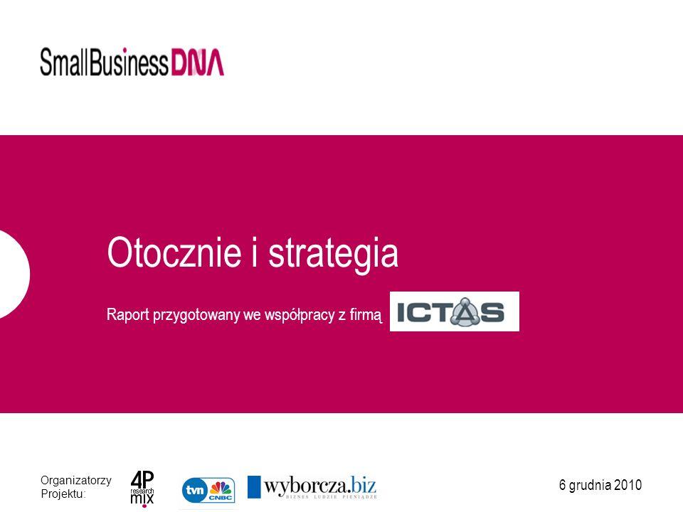 Informacje o badaniu NAJWAŻNIEJSZE INFORMACJE Badanie Small Business DNA zrealizowane zostało przez 4P research mix w współpracy z firmą ICTAS.