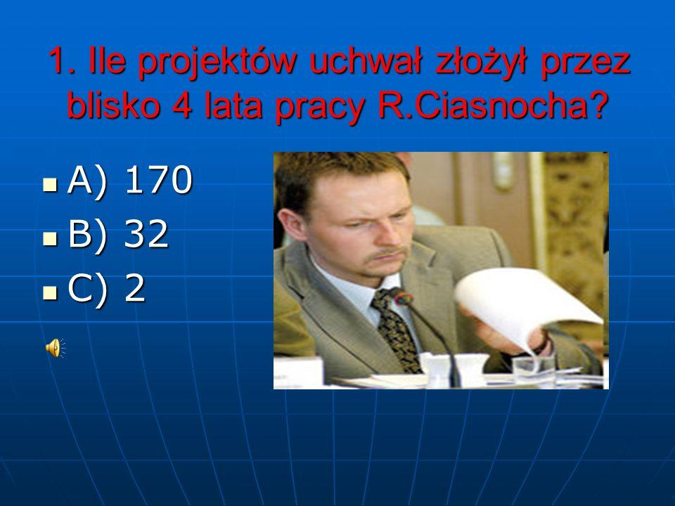 Pracuś Roman Joachim Ciasnocha Quiz - 2010