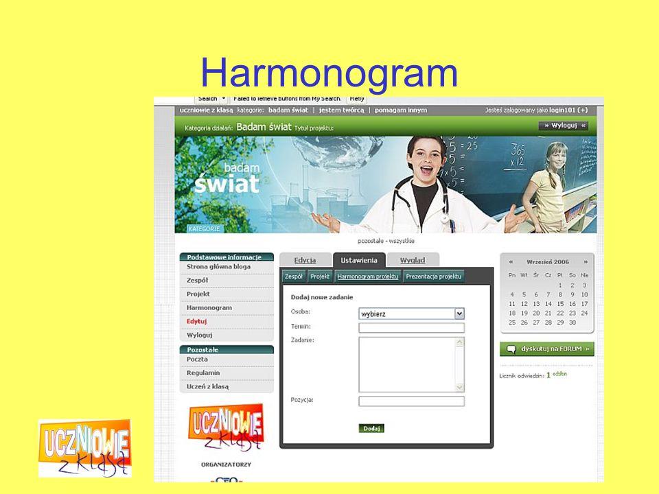 Fundacja Centrum Edukacji Obywatelskiej Harmonogram