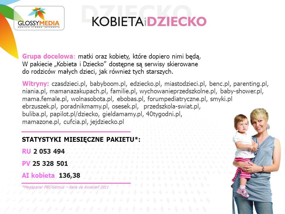 STATYSTYKI MIESIĘCZNE PAKIETU*: RU 2 053 494 PV 25 328 501 AI kobieta 136,38 Grupa docelowa: matki oraz kobiety, które dopiero nimi będą.