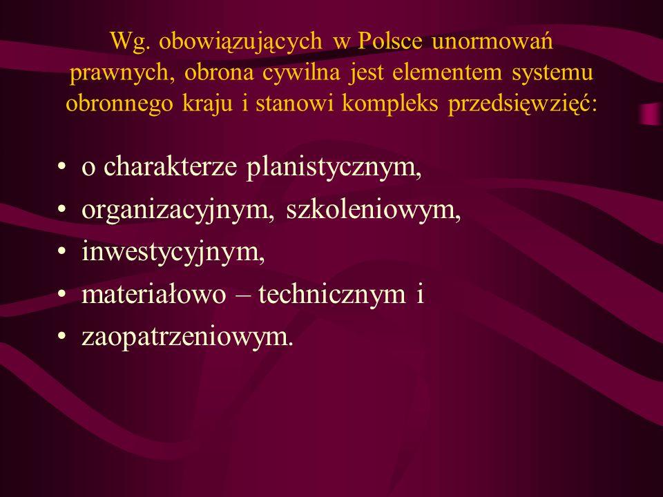 Organizację oraz zasady przygotowania i realizację zadań obrony cywilnej regulują wewnętrzne przepisy każdego kraju.